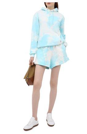 Женские хлопковые шорты FORTE DEI MARMI COUTURE светло-голубого цвета, арт. 21SF9882 | Фото 2