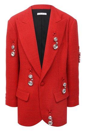 Женский шерстяной жакет AREA красного цвета, арт. RE21J03095 | Фото 1