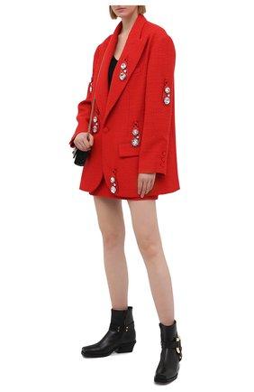 Женский шерстяной жакет AREA красного цвета, арт. RE21J03095 | Фото 2