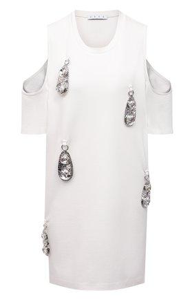 Женское платье из вискозы AREA белого цвета, арт. RE21D17003 | Фото 1