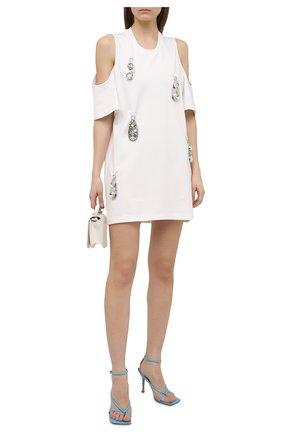 Женское платье из вискозы AREA белого цвета, арт. RE21D17003 | Фото 2