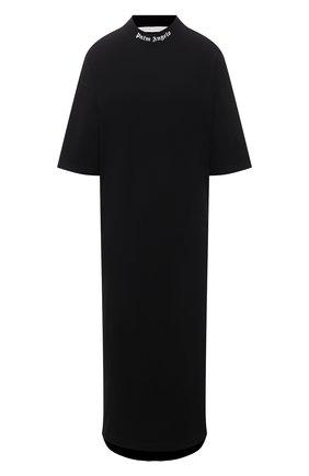 Женское хлопковое платье PALM ANGELS черного цвета, арт. PWDB105S21JER0011001   Фото 1