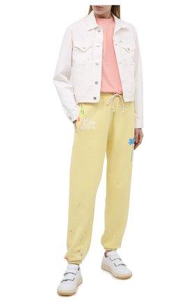 Женские хлопковые джоггеры PALM ANGELS  цвета, арт. PWCH006S21FLE0011969 | Фото 2