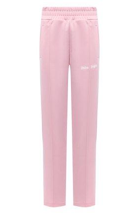 Женские брюки PALM ANGELS светло-розового цвета, арт. PWCA035S21FAB0013001   Фото 1