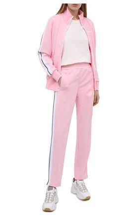 Женские брюки PALM ANGELS светло-розового цвета, арт. PWCA035S21FAB0013001   Фото 2