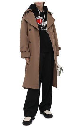 Женский хлопковое худи PALM ANGELS черного цвета, арт. PWBB023S21FLE0031001 | Фото 2