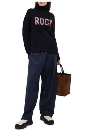Женский шерстяной свитер ZADIG&VOLTAIRE темно-синего цвета, арт. SKMF1113F   Фото 2