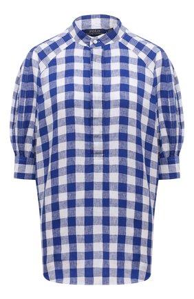 Женская льняная блузка POLO RALPH LAUREN синего цвета, арт. 211838073 | Фото 1