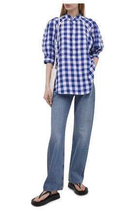 Женская льняная блузка POLO RALPH LAUREN синего цвета, арт. 211838073 | Фото 2