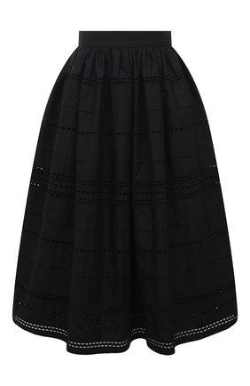 Женская хлопковая юбка REDVALENTINO черного цвета, арт. VR0RA01J/5T0 | Фото 1