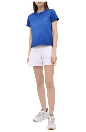 Женские хлопковые шорты GIORGIO ARMANI белого цвета, арт. 3KAP85/AJWWZ   Фото 2