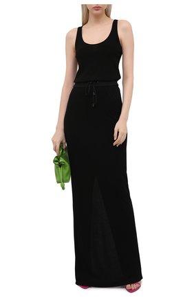 Женское платье из вискозы TOM FORD черного цвета, арт. ABJ579-FAX779 | Фото 2 (Стили: Спорт-шик; Длина Ж (юбки, платья, шорты): Макси; Материал внешний: Вискоза; Рукава: Без рукавов; Женское Кросс-КТ: Платье-одежда; Случай: Повседневный)