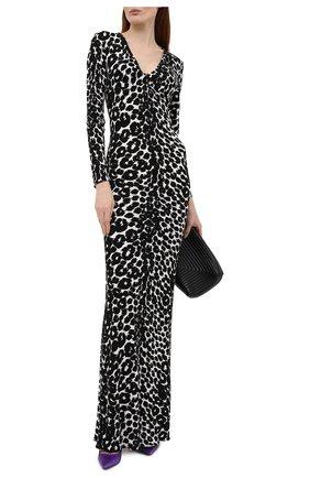 Женское платье из вискозы TOM FORD леопардового цвета, арт. ABJ572-FAP116 | Фото 2 (Длина Ж (юбки, платья, шорты): Макси; Рукава: Длинные; Материал внешний: Вискоза; Стили: Романтичный; Женское Кросс-КТ: Платье-одежда; Случай: Вечерний)