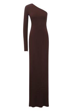 Женское платье из вискозы RALPH LAUREN темно-коричневого цвета, арт. 290840178 | Фото 1