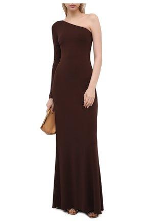 Женское платье из вискозы RALPH LAUREN темно-коричневого цвета, арт. 290840178 | Фото 2
