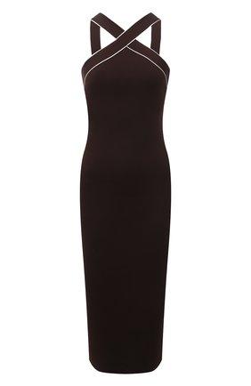 Женское шелковое платье RALPH LAUREN темно-коричневого цвета, арт. 290840672 | Фото 1