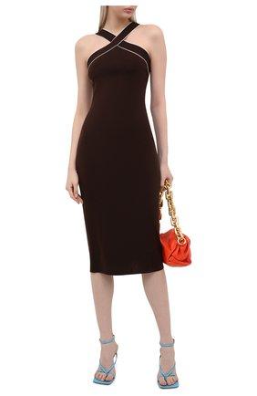 Женское шелковое платье RALPH LAUREN темно-коричневого цвета, арт. 290840672 | Фото 2