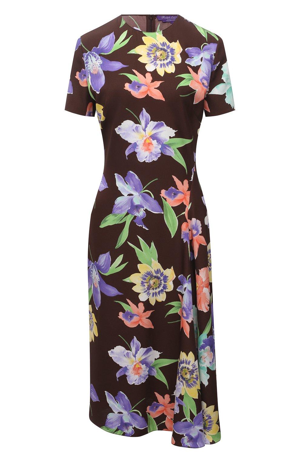 Женское шелковое платье RALPH LAUREN разноцветного цвета, арт. 290849800 | Фото 1