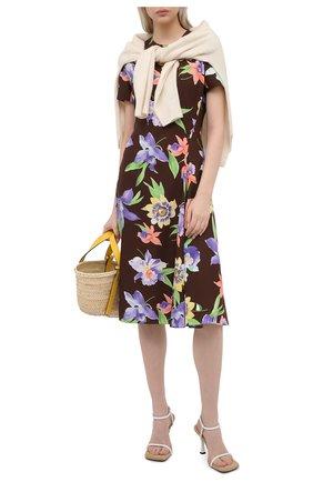 Женское шелковое платье RALPH LAUREN разноцветного цвета, арт. 290849800 | Фото 2