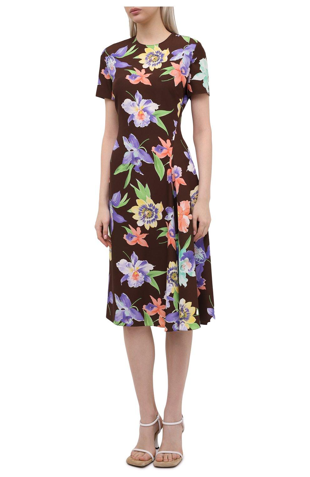 Женское шелковое платье RALPH LAUREN разноцветного цвета, арт. 290849800 | Фото 3