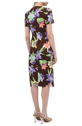 Женское шелковое платье RALPH LAUREN разноцветного цвета, арт. 290849800 | Фото 4