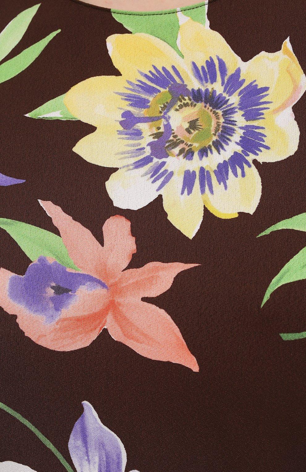 Женское шелковое платье RALPH LAUREN разноцветного цвета, арт. 290849800 | Фото 5
