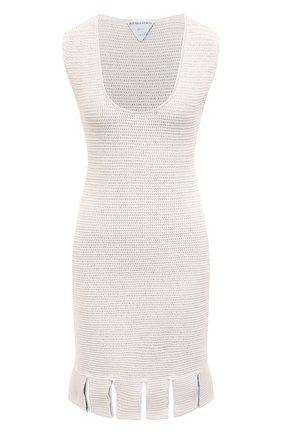 Женское хлопковое платье BOTTEGA VENETA белого цвета, арт. 656578/V0S90 | Фото 1