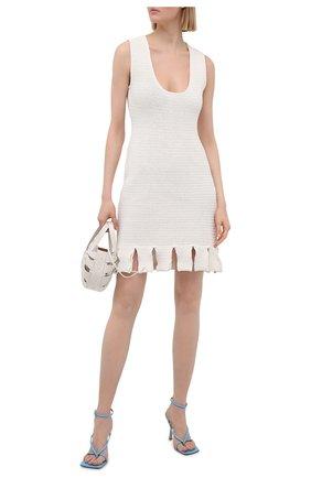 Женское хлопковое платье BOTTEGA VENETA белого цвета, арт. 656578/V0S90 | Фото 2