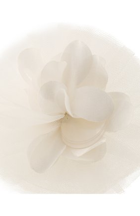 Детская заколка TUTU DU MONDE белого цвета, арт. TDM6297   Фото 3 (Материал: Текстиль, Синтетический материал)