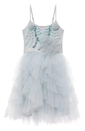 Детское хлопковое платье TUTU DU MONDE голубого цвета, арт. TDM6163/4-11 | Фото 1