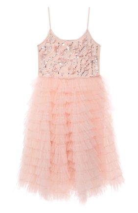 Детское хлопковое платье TUTU DU MONDE розового цвета, арт. TDM6156/4-11 | Фото 1