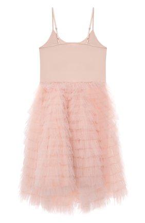 Детское хлопковое платье TUTU DU MONDE розового цвета, арт. TDM6156/4-11 | Фото 2