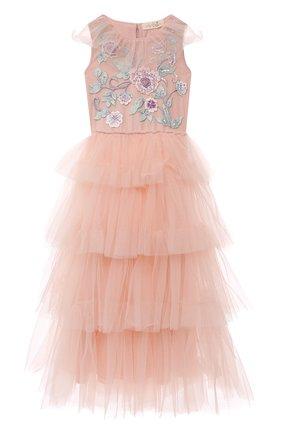 Детское хлопковое платье TUTU DU MONDE розового цвета, арт. TDM6153/4-11 | Фото 1