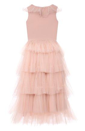 Детское хлопковое платье TUTU DU MONDE розового цвета, арт. TDM6153/4-11 | Фото 2