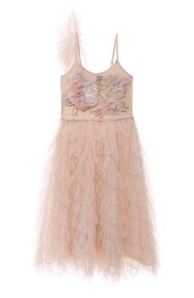 Детское хлопковое платье TUTU DU MONDE розового цвета, арт. TDM6138/4-11 | Фото 1