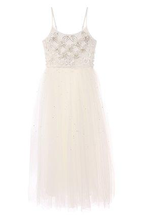 Детское хлопковое платье TUTU DU MONDE белого цвета, арт. TDM6117/4-11 | Фото 1