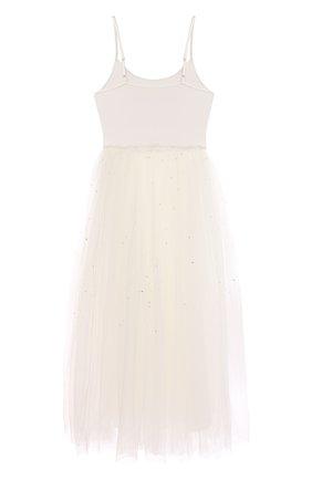 Детское хлопковое платье TUTU DU MONDE белого цвета, арт. TDM6117/4-11 | Фото 2