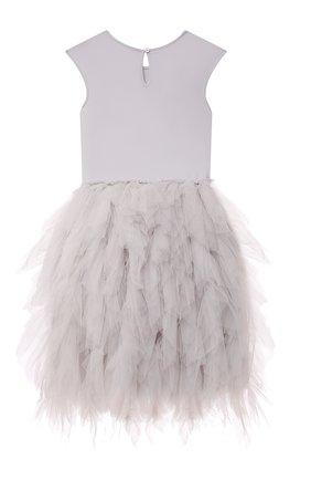 Детское хлопковое платье TUTU DU MONDE серебряного цвета, арт. TDM6115/4-11 | Фото 2