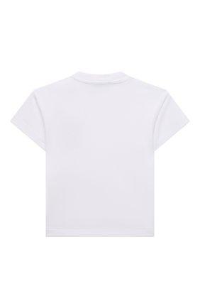 Детский хлопковая футболка MOSCHINO белого цвета, арт. MUM02E/LBA10 | Фото 2