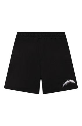 Детские хлопковые шорты SPRAYGROUND черного цвета, арт. 21PESPY189   Фото 2