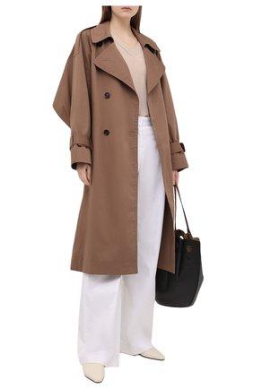 Женский пуловер из шелка и кашемира TEGIN бежевого цвета, арт. ST2155C | Фото 2