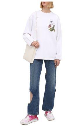 Женские текстильные кроссовки valentino garavani wade runner VALENTINO фуксия цвета, арт. VW2S0BF4/DDD | Фото 2