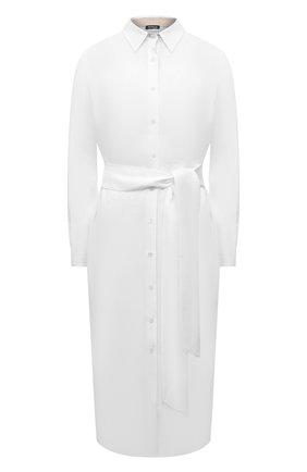 Женское льняное платье KITON белого цвета, арт. D51368K09T85 | Фото 1
