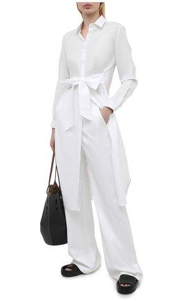 Женское льняное платье KITON белого цвета, арт. D51368K09T85 | Фото 2