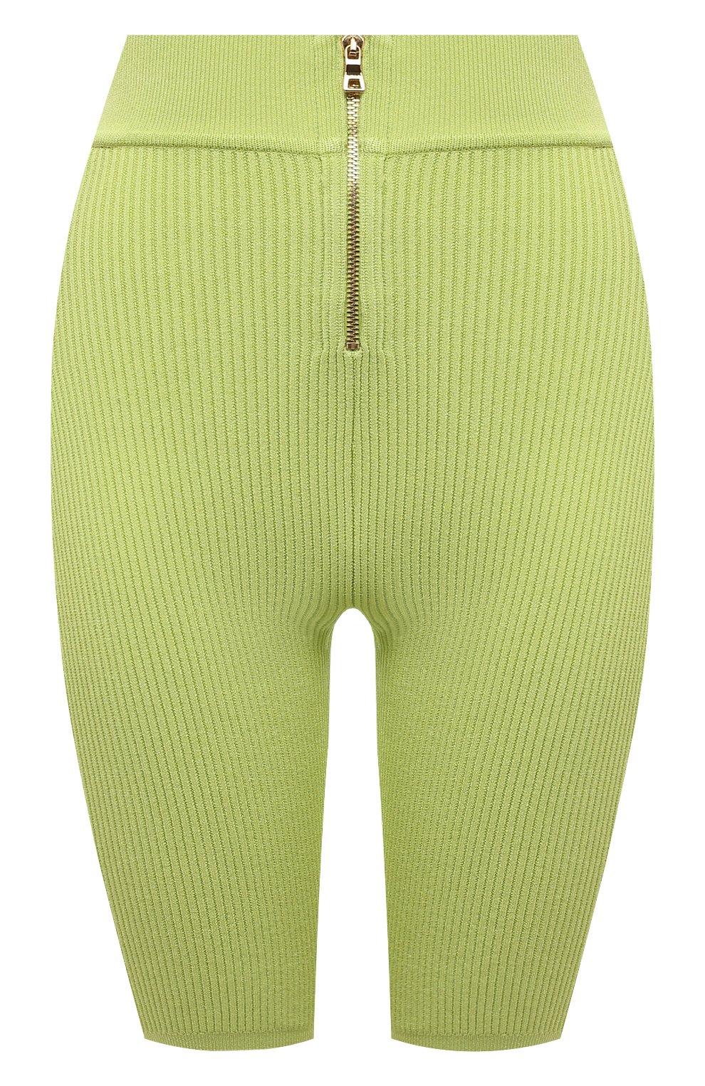 Женские шорты из вискозы BALMAIN зеленого цвета, арт. VF0PB015/K211 | Фото 1