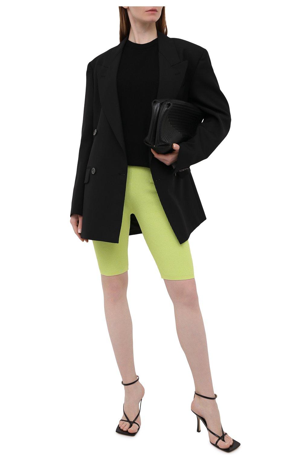 Женские шорты из вискозы BALMAIN зеленого цвета, арт. VF0PB015/K211 | Фото 2
