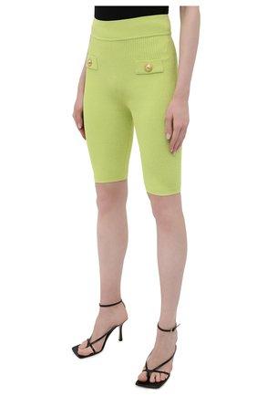 Женские шорты из вискозы BALMAIN зеленого цвета, арт. VF0PB015/K211 | Фото 3