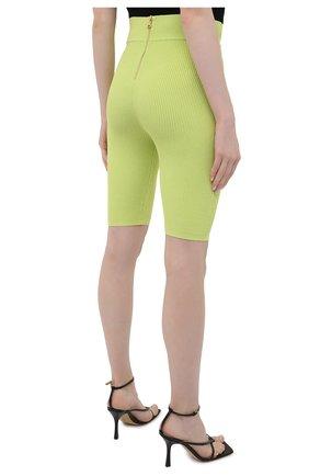 Женские шорты из вискозы BALMAIN зеленого цвета, арт. VF0PB015/K211 | Фото 4
