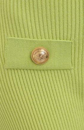 Женские шорты из вискозы BALMAIN зеленого цвета, арт. VF0PB015/K211 | Фото 5