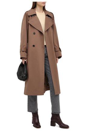 Женские кожаные ботильоны gaile CHLOÉ темно-коричневого цвета, арт. CHC21S411L4   Фото 2